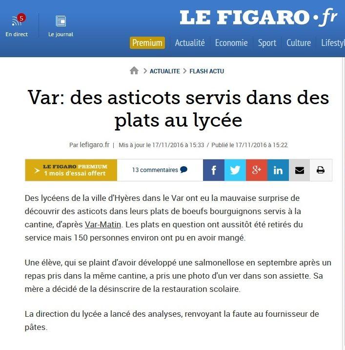 La joie des commentaires des lecteurs du figaro.fr