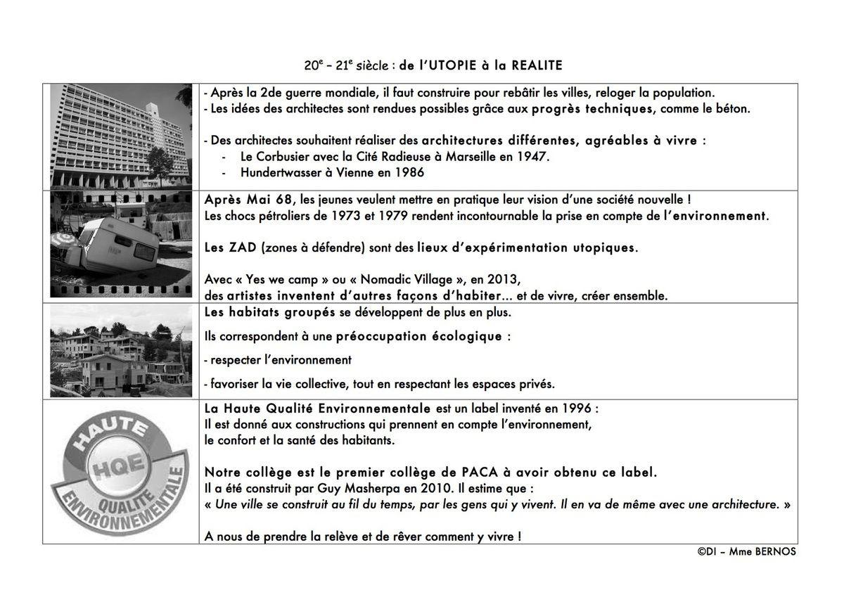 """Architecture et Utopie : """"nos idéaux"""""""