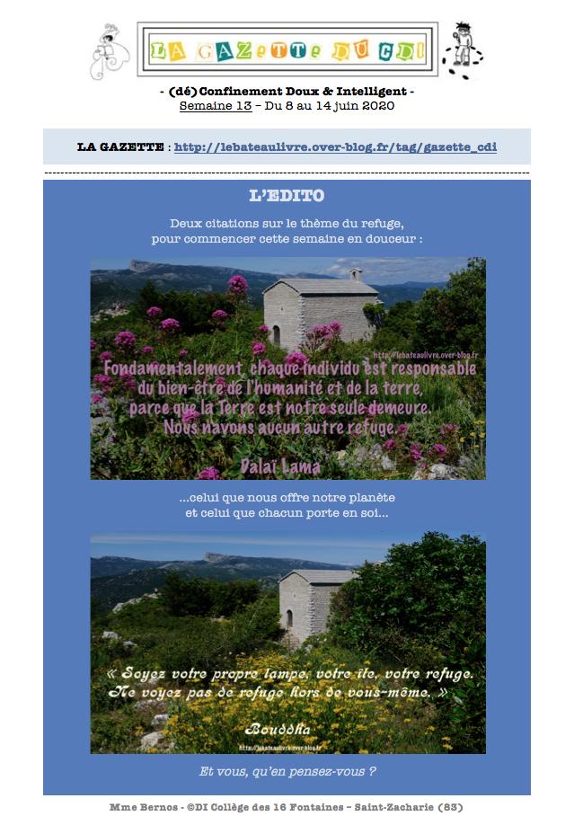 Gazette du CDI - 8 au 14 Juin 2020