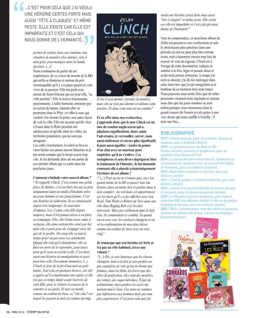 Clinch dans le STEMP Magazine