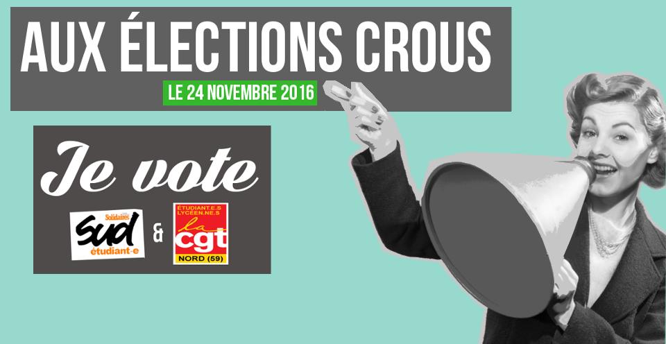 Elections au CROUS du Nord-Pas-de-Calais : une liste CGT Etudiants et Solidaires Etudiants pour défendre les étudiants