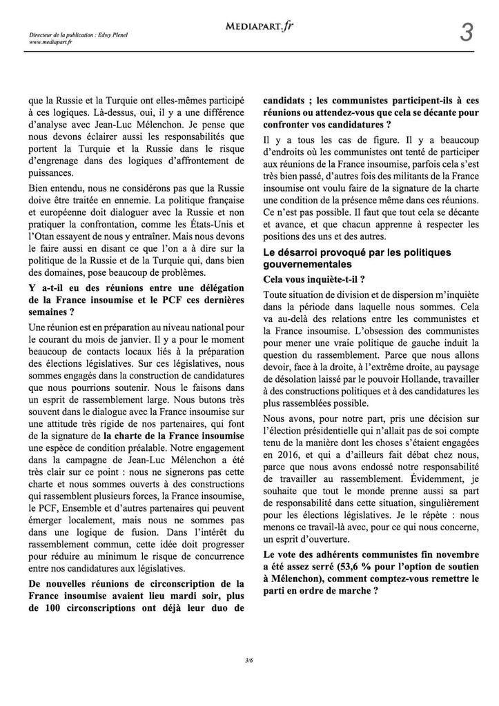 Pierre Laurent : « Avec la France insoumise, nous butons souvent sur une attitude très rigide »