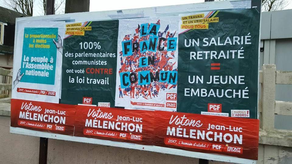 Campagne présidentielle : opération collage pour les militants communistes héninois