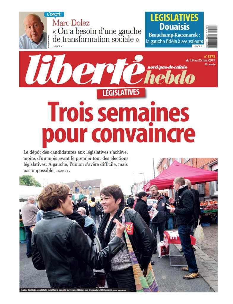 A la une de Liberté Hebdo n°1272