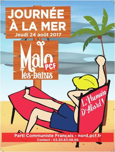 La Fédération du Nord du PCF organise sa journée à la mer à Malo-les-Bains le 24 août