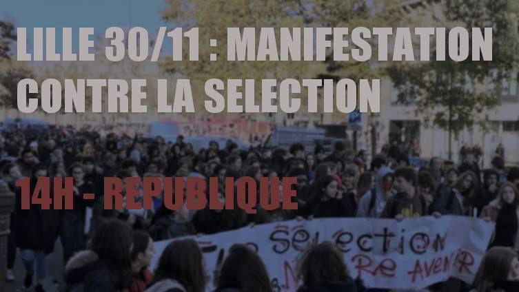 Les étudiants de Lille se mobilisent contre la sélection à l'université