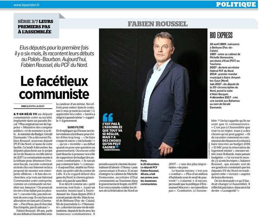 Leurs premiers pas à l'Assemblée : Fabien Roussel, le facétieux communiste