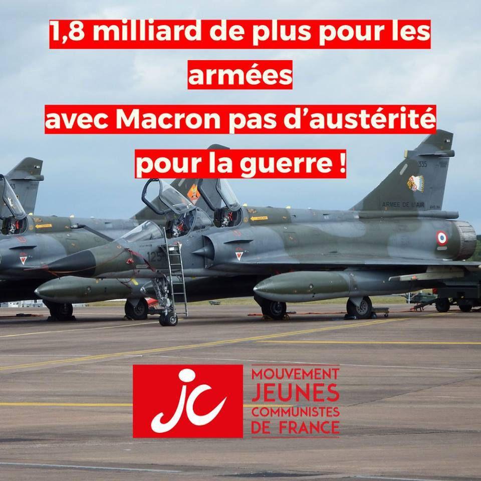 Avec Macron, pas d'austérité pour la guerre !