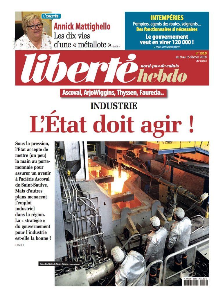 A la une de Liberté Hebdo n°1310
