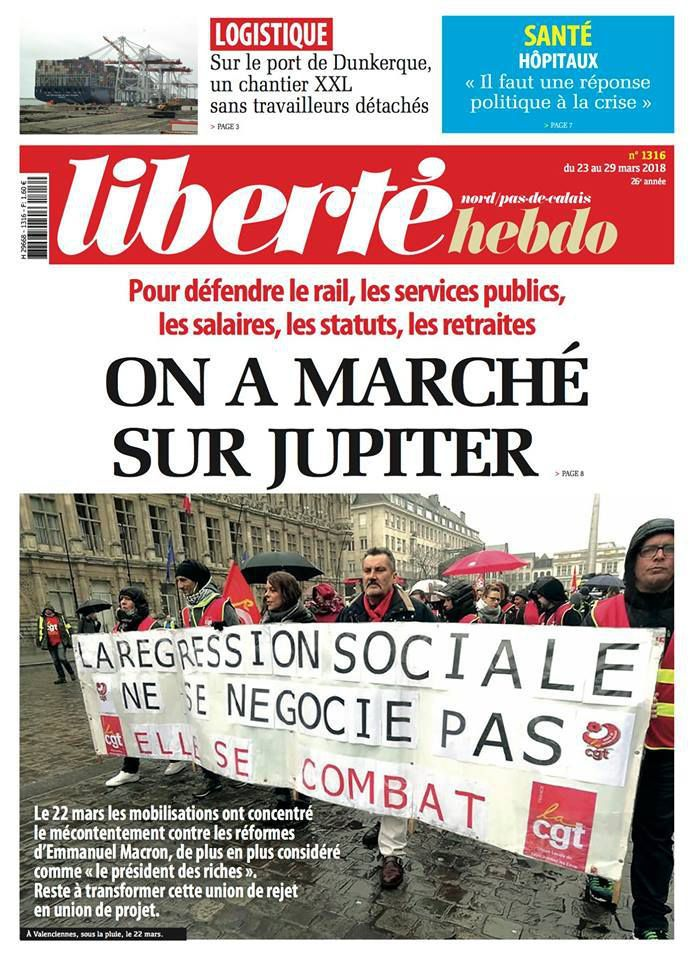 A la une de Liberté Hebdo n°1316