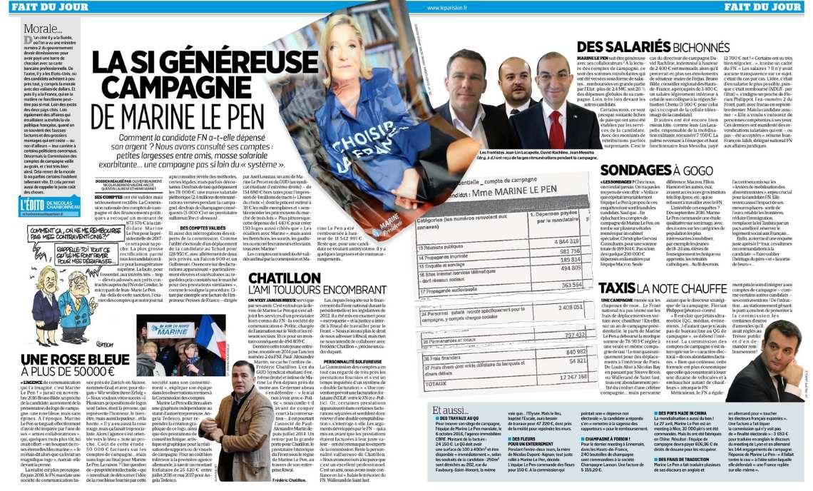 La si généreuse campagne de Marine Le Pen