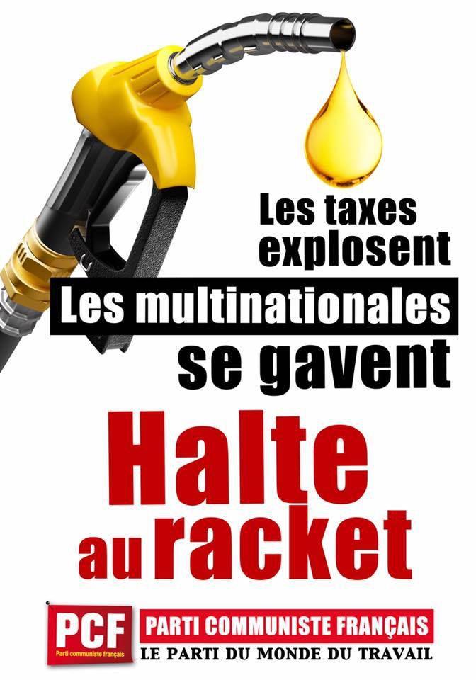 Hausse des prix des carburants : Non au racket qui frappe le pouvoir d'achat !