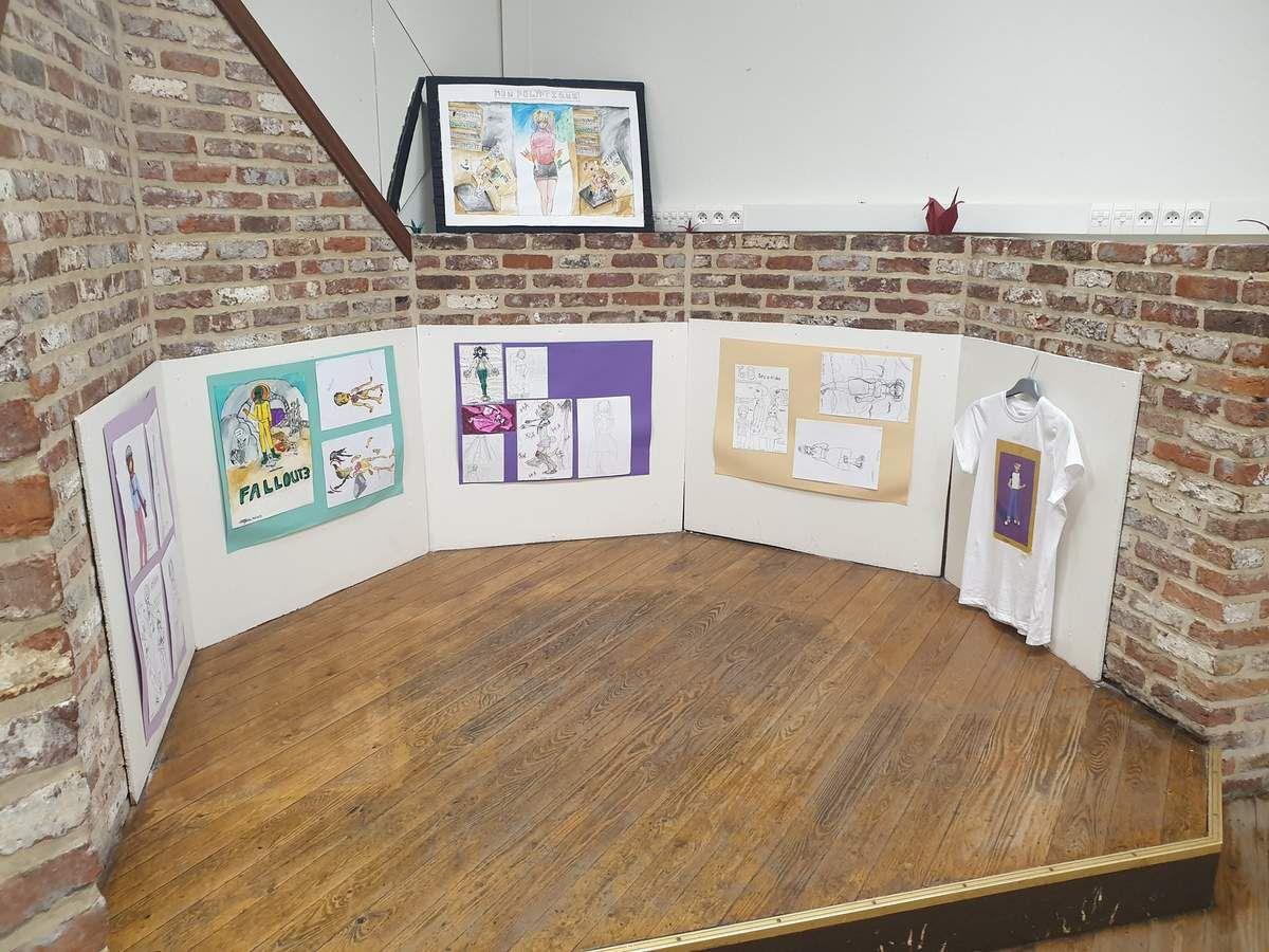 Une belle exposition de l'école d'arts plastiques salle de la Polonia