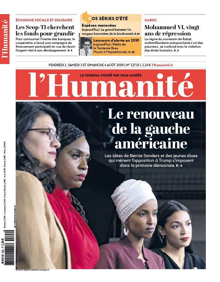 A la une de l'Humanité (02-08-19)