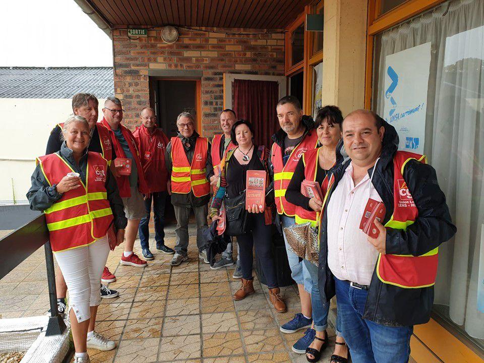 L'Union locale CGT de Lens-Hénin mobilisée à Hénin-Beaumont et Montigny-en-Gohelle pour informer sur les retraites