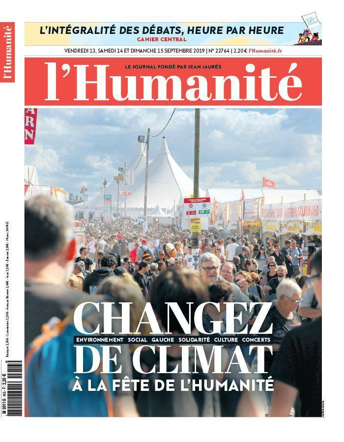 A la une de l'Humanité (13-09-19)