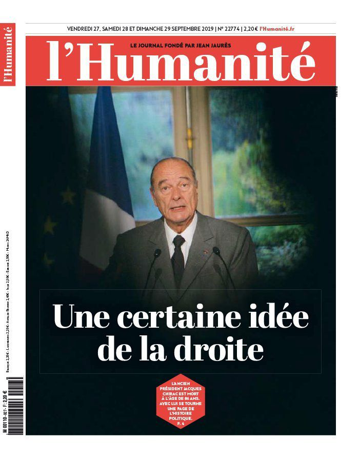 A la une de l'Humanité (27-09-19)