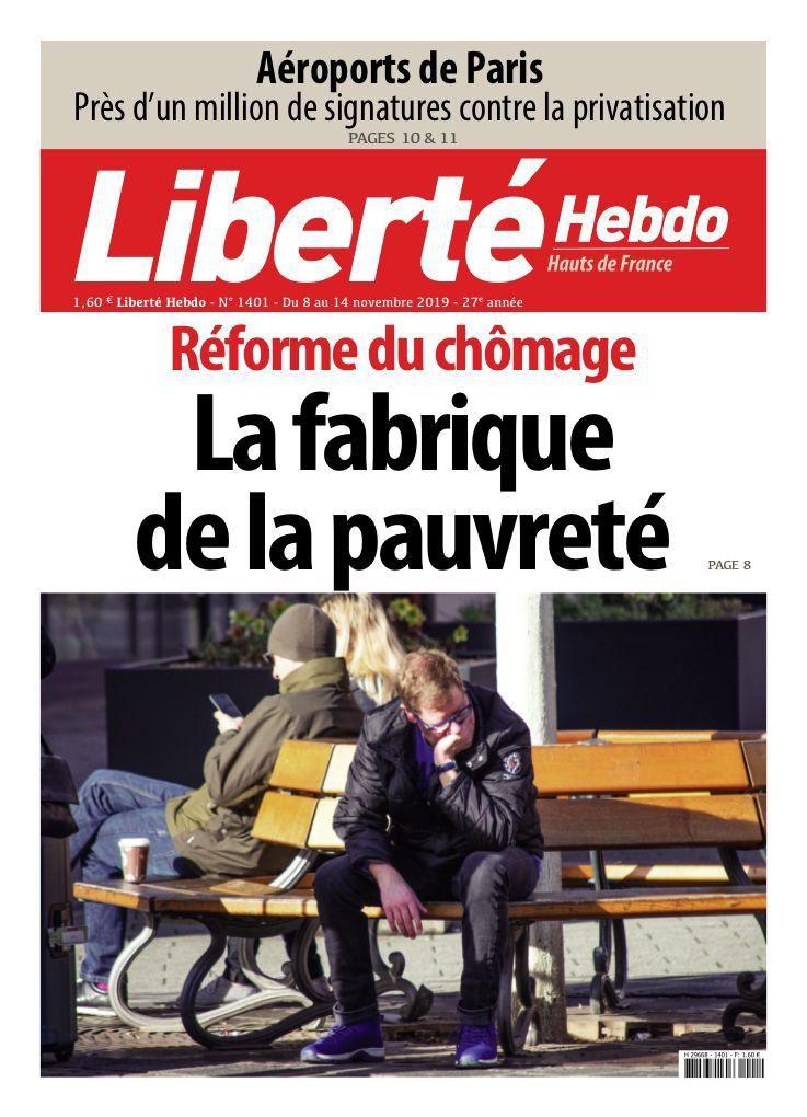 A la une de Liberté Hebdo n°1401