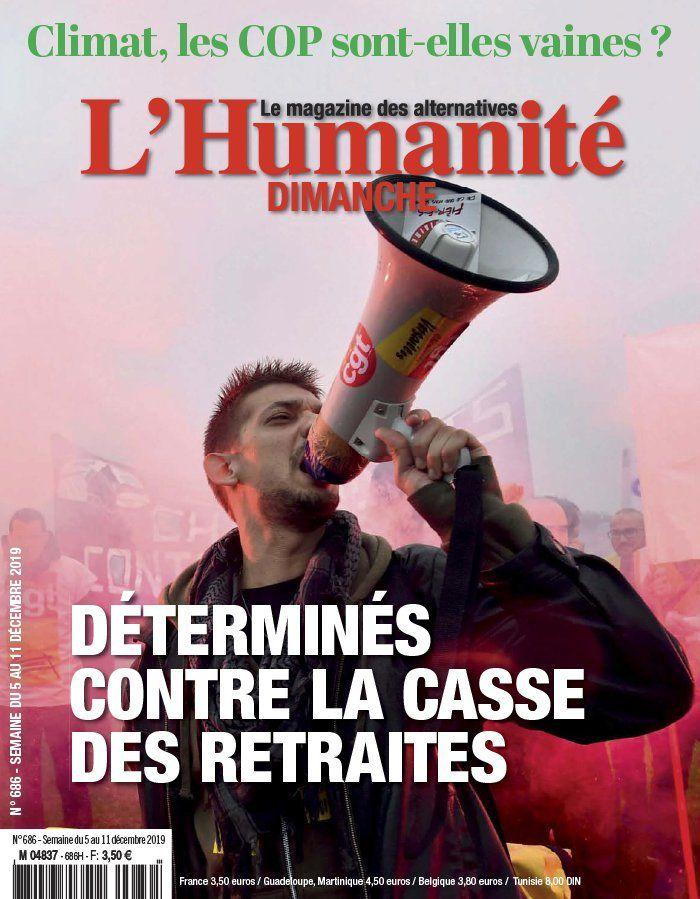 A la une de l'Humanité Dimanche (05-12-19)