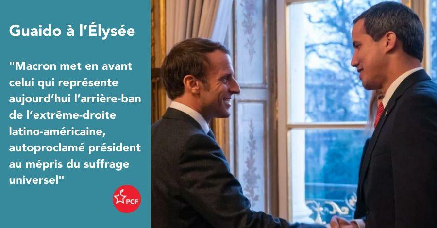Juan Guaido à l'Élysée : la diplomatie Française 100 % alignée sur l'administration américaine !