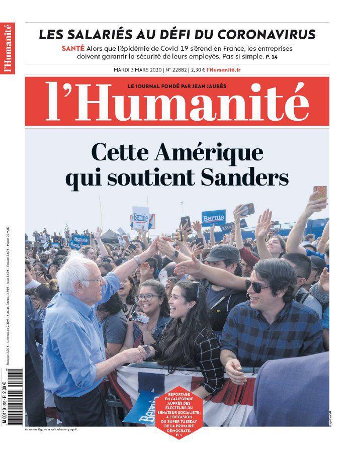 A la une de l'Humanité (03-03-20)