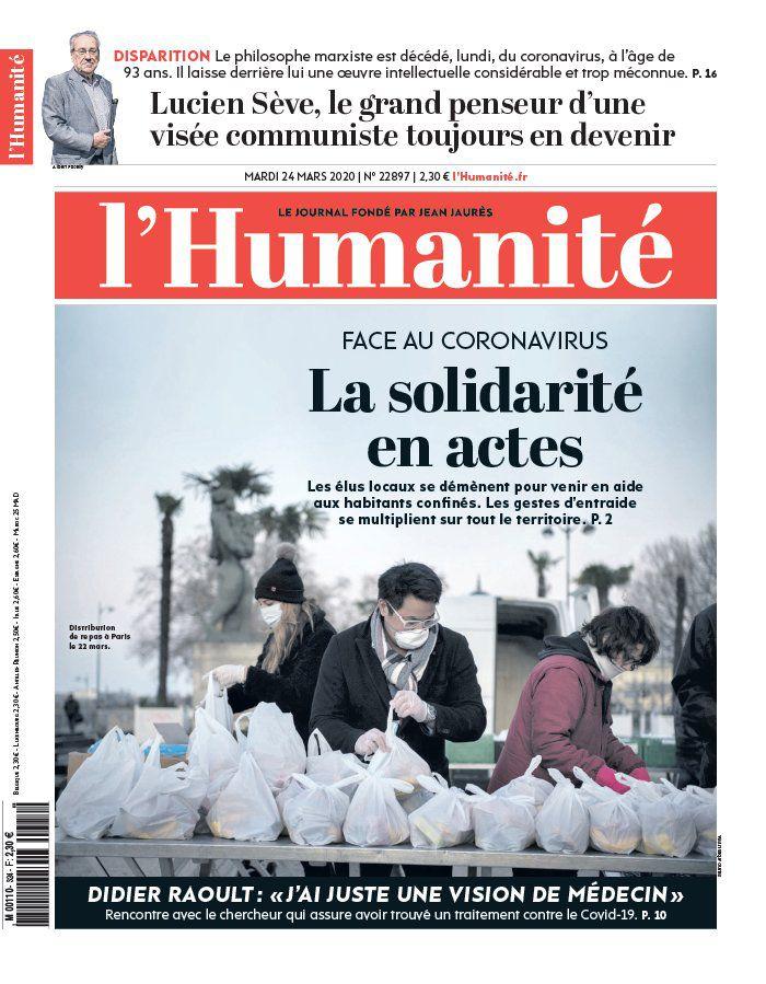 A la une de l'Humanité (24-03-20)