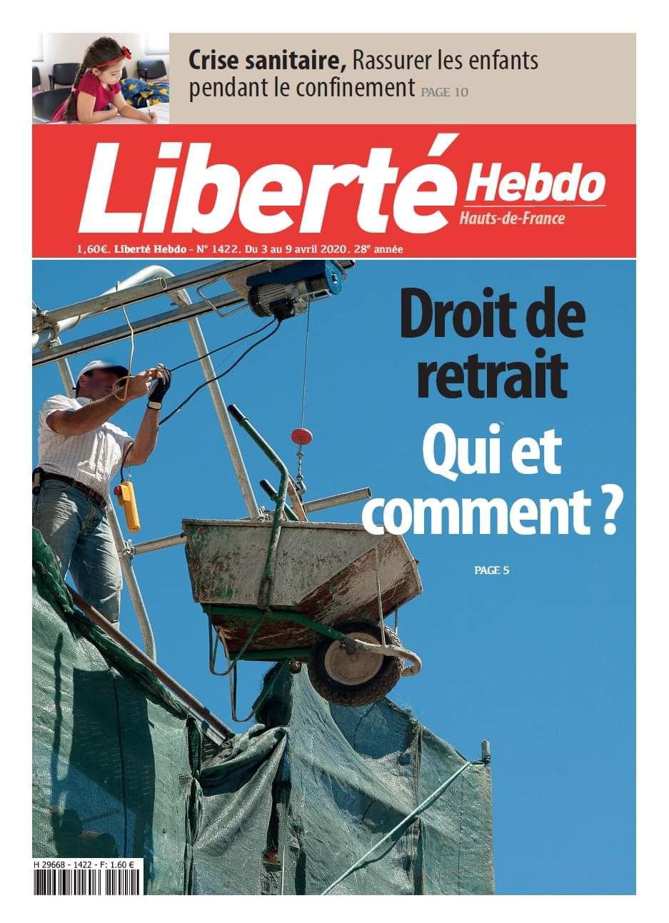 A la une de Liberté Hebdo n°1422