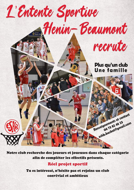 L'Entente Sportive Hénin-Beaumont Basket recrute