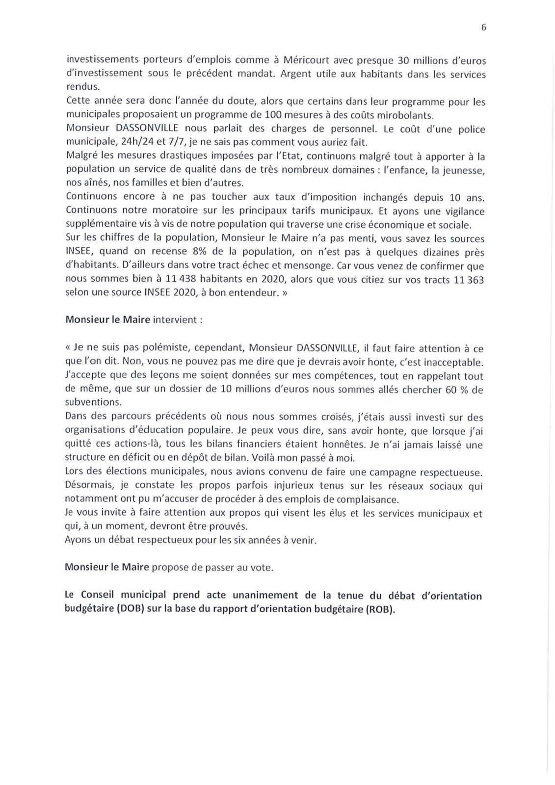 Conseil municipal de Méricourt du 22 juin 2020 : le compte-rendu officiel est en ligne