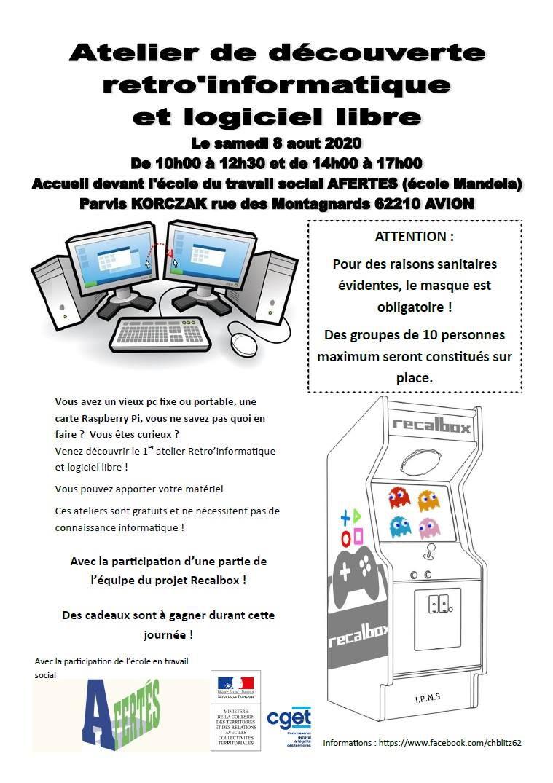 Un atelier de découverte rétro-informatique et logiciel libre le 8 août à Avion