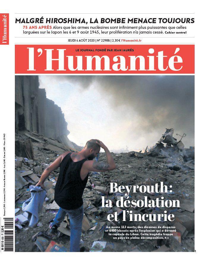 A la une de l'Humanité (06-08-20)