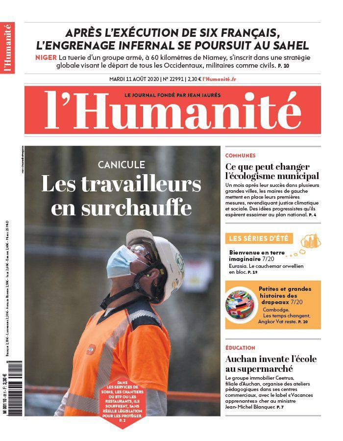 A la une de l'Humanité (11-08-20)
