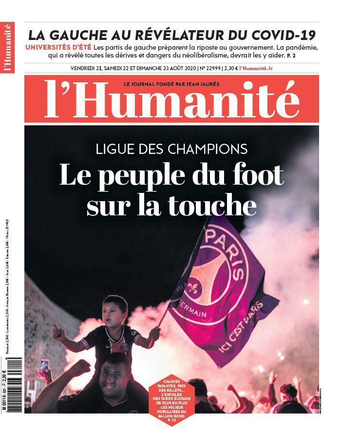 A la une de l'Humanité (21-08-20)