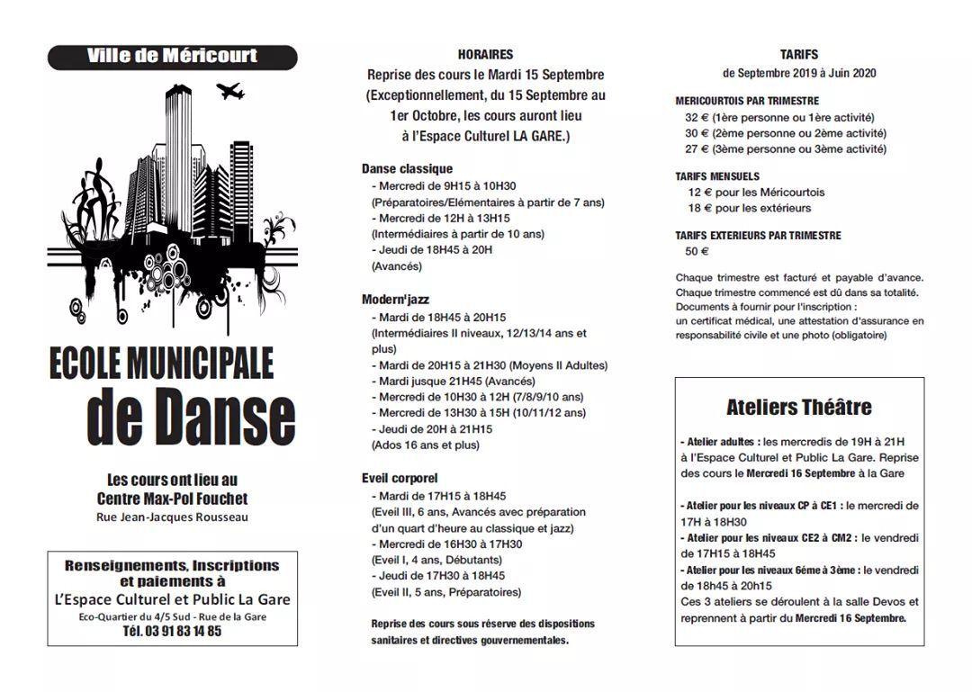Méricourt : la rentrée pour l'école municipale de musique et l'école municipale de danse
