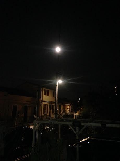La lune , ce matin !