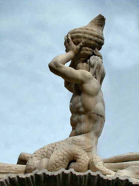 La fontaine du Triton, à Rome