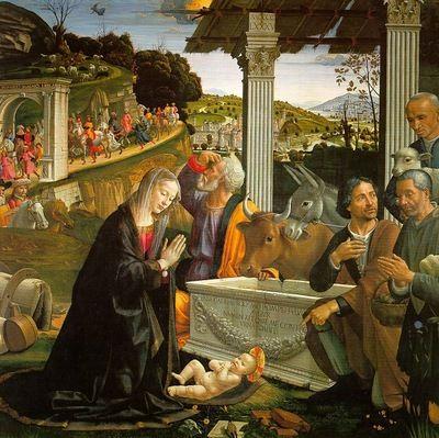 L'adoration des bergers - Ghirlandaio