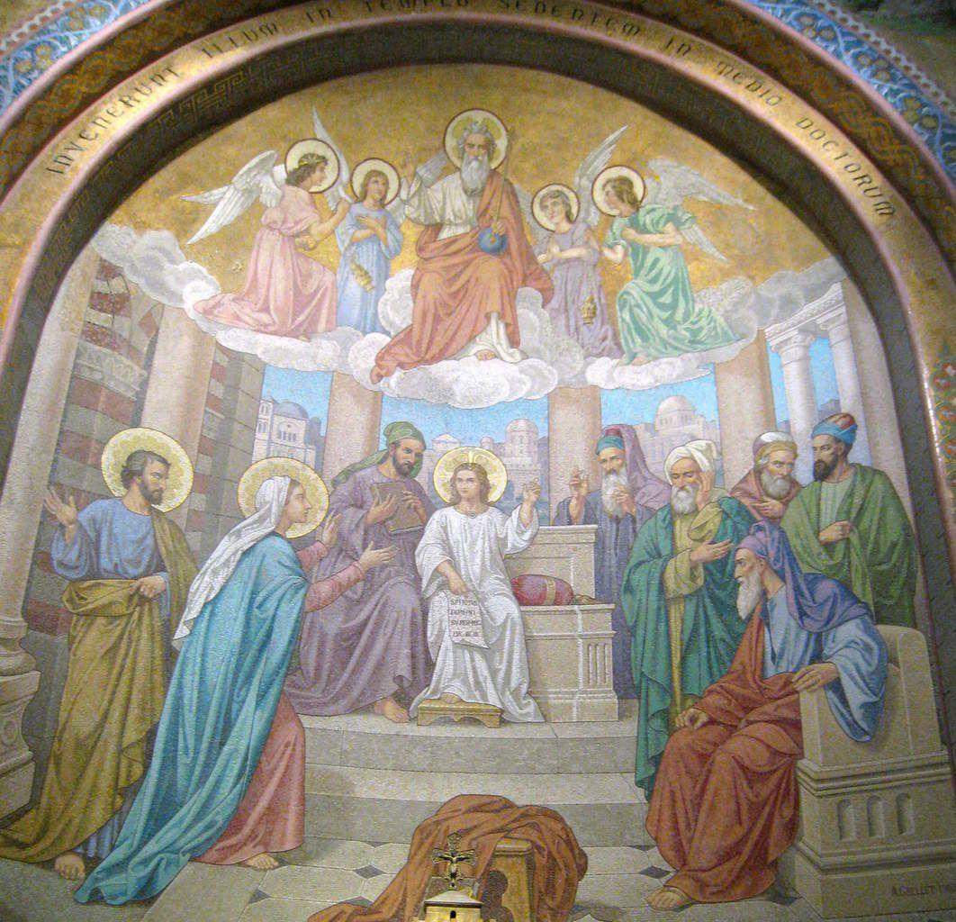 Mosaïque dans la Basilique du Rosaire à Lourdes