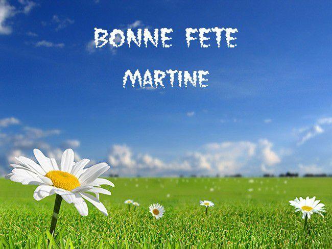 Nous fêtons les Martine !