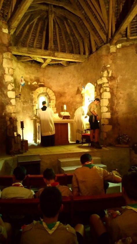 Première messe à la chapelle de Maintenon !