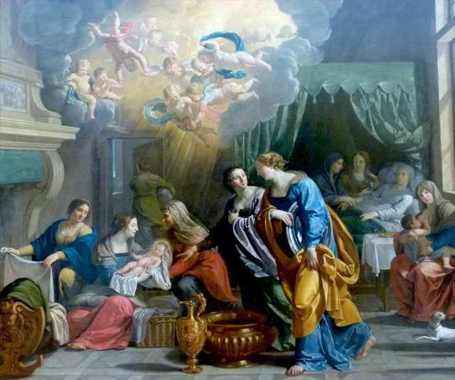 Nativité de la Vierge Marie, par Philippe de Champaigne, église Notre-Dame d'Arras
