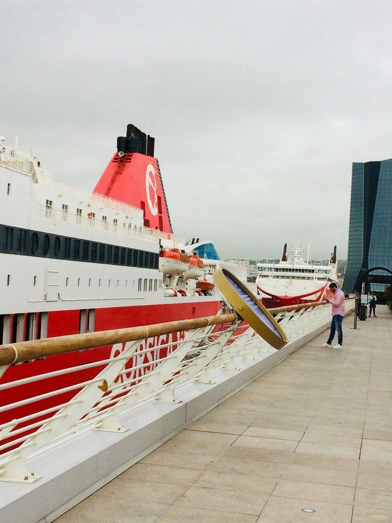 hier à midi depuis les Terrasses du Port !