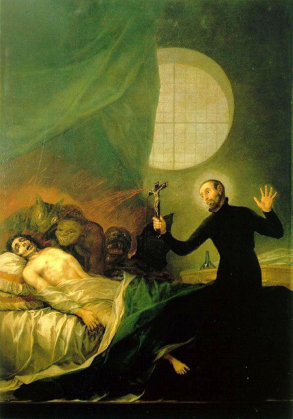 San Francisco de Borja et le Moribond impénitent de Francisco de Goya