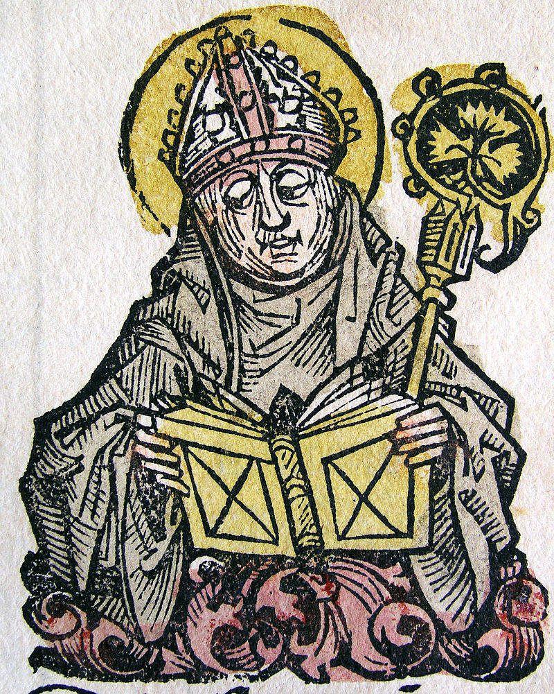 Saint Edmond Rich, archevêque de Cantorbéry.