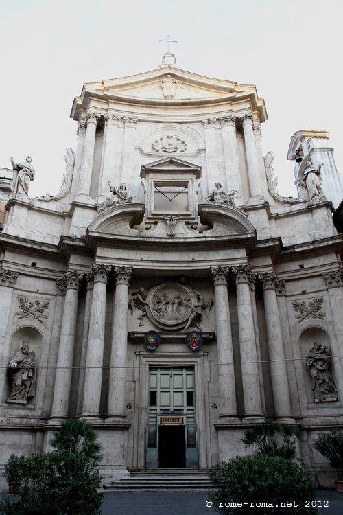 Eglise Saint Marcel Al Corso (ancienne voie Lata) à Rome, reconstruite en 1592