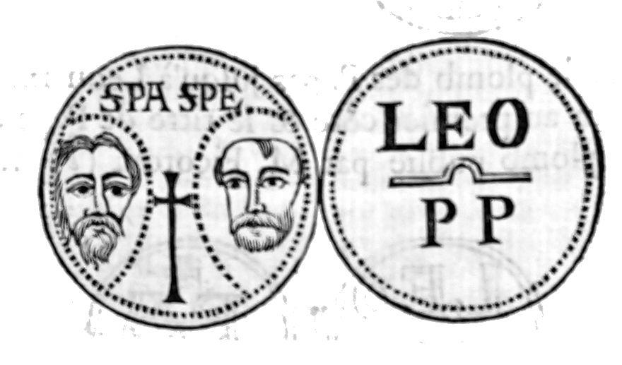 Sceau du pape Léon IX avec Saint Pierre et Saint Paul