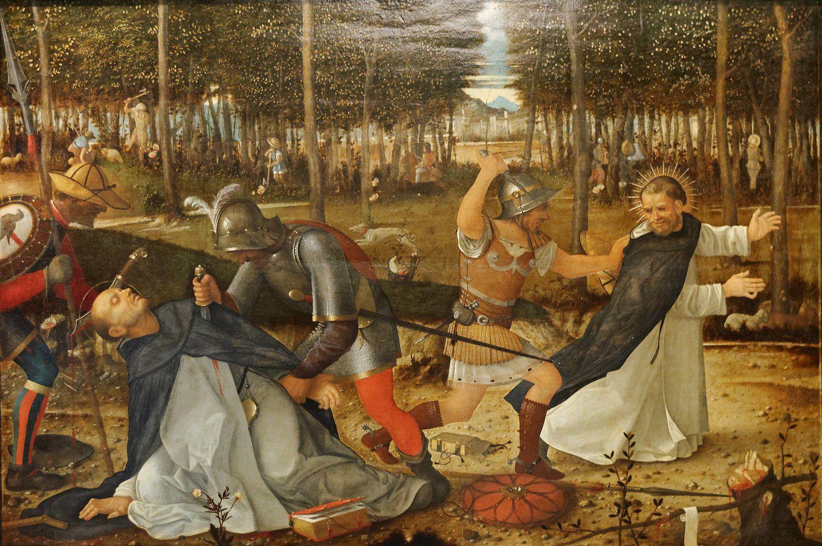 Mort de Saint Pierre de Vérone par Giovanni Bellini (+ 1516)