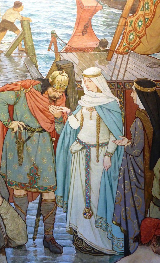 Malcolm et Sainte Marguerite roi et reine d'Ecosse