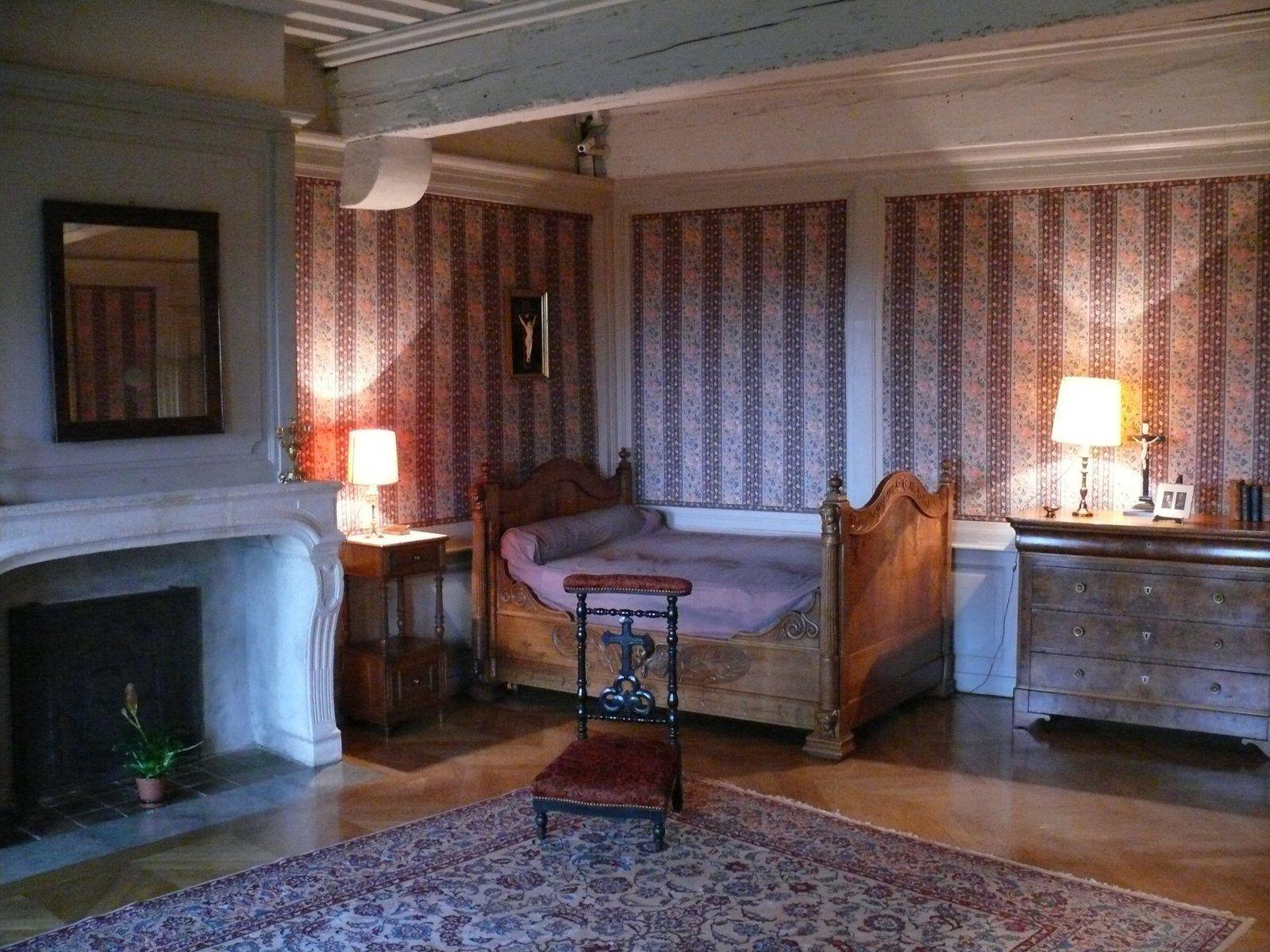 La chambre de Pauline Jaricot à la maison de Laurette au-dessous de Notre Dame de Fourvière.