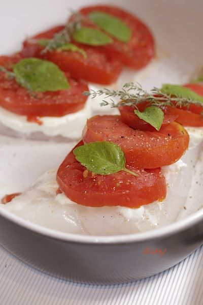 FILET DE DORADE TOMATE-MOZZA